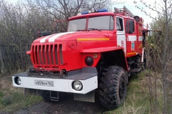 В Самарской области пожар уничтожил 14 дачных строений