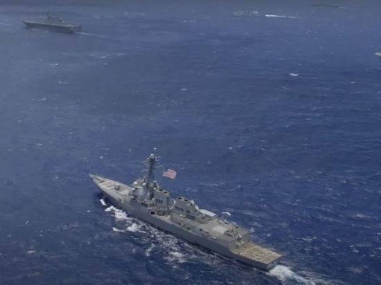 Американский корабль сделал 30 выстрелов из-за маневров ВМС Ирана