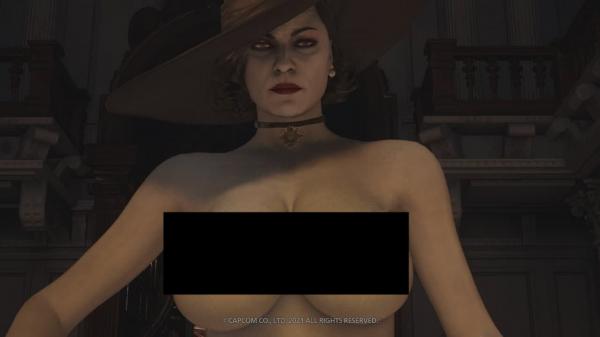 Замок разврата: Игрок полностью раздел Леди Димитреску в Resident Evil Village
