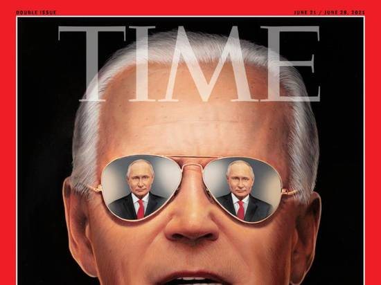 Журнал Time обыграл саммит Путина и Байдена на обложке