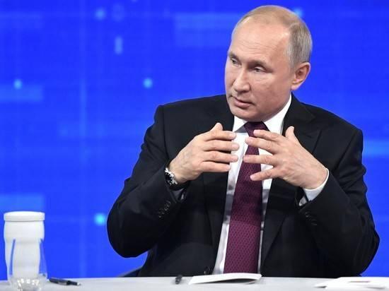 Названа возможная дата прямой линии президента Путина