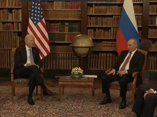 Путин и Байден обменялись вторым рукопожатием перед началом переговоров