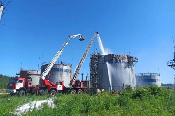 В Тульской области горел резервуар с этилбензолом