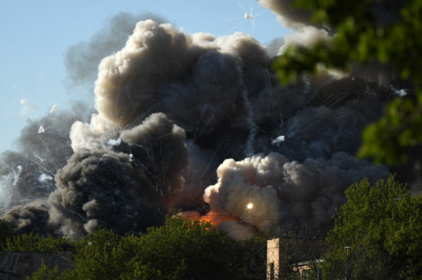 Пожар на складе с пиротехникой в центре Москвы потушен