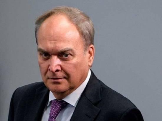 Вернувшийся в США посол Антонов разочарован заявлением о новых санкциях