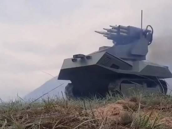 """Состоялись первые испытания роботизированного белорусского комплекса """"Вистл"""""""
