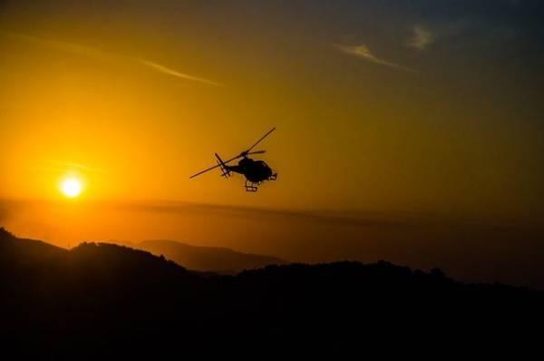 В Ленинградской области упал вертолет