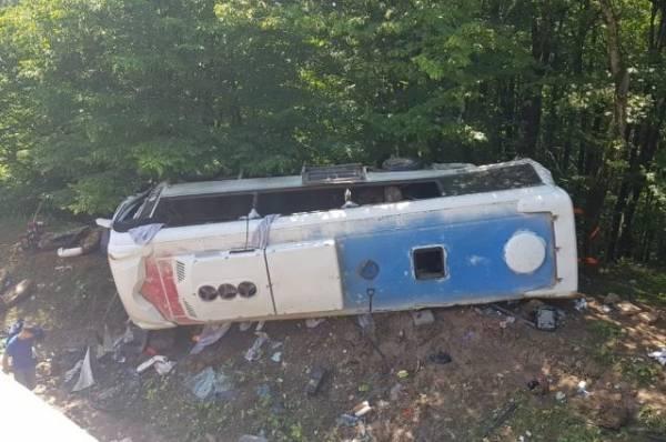 Количество жертв аварии с автобусом в горах Кубани выросло до двух