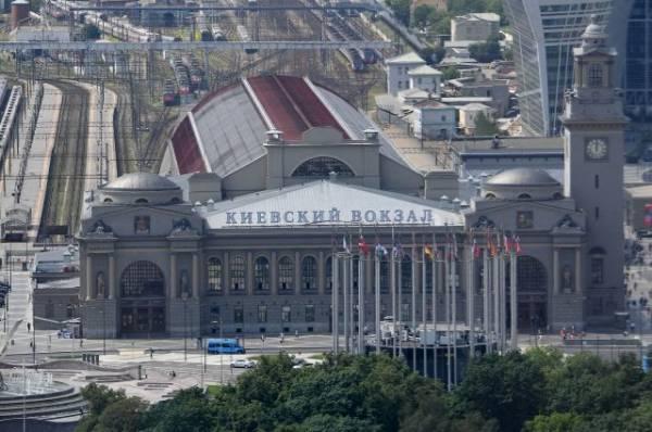 В здании Киевского вокзала в Москве произошел пожар