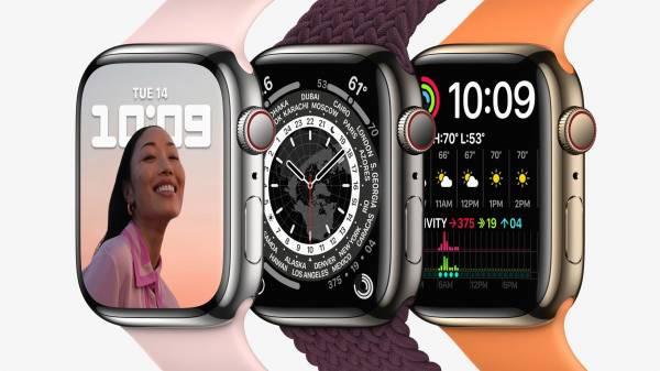 Представлены умные часы Apple Watch 7 с увеличенным экраном