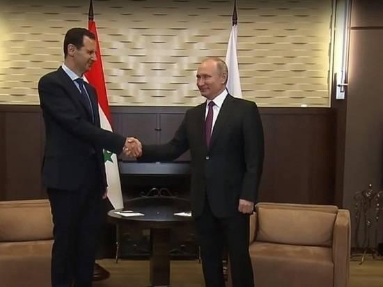 Владимир Путин заявил о росте товарооборота с Сирией в 3,5 раза