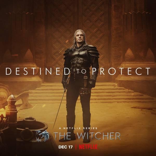 """Суровый Генри Кавилл с мечом в руке на новом постере сериала """"Ведьмак - 2 сезон"""""""