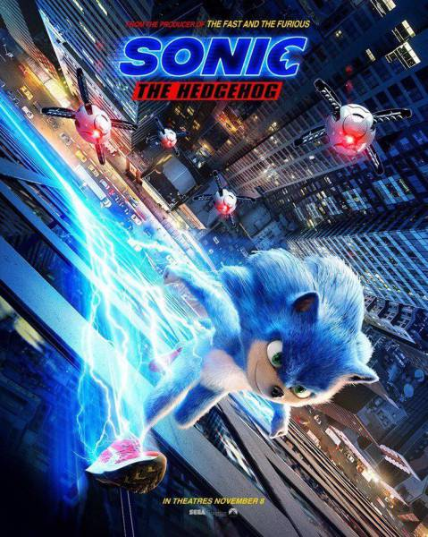 Sonic The Hedgehog Paramount Pictures представила дебютный